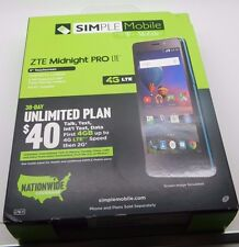 Simple Mobile ZTE Midnight PRO NEW IN BOX