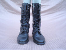 Bronx Styled by Dijkmans Black Genuine leather Women Mid Calf Boots 36 Italy