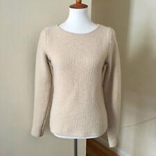 'S Max Mara Wool Cashmere Sweater Sz M Medium Waffle Knit Scoop Neck