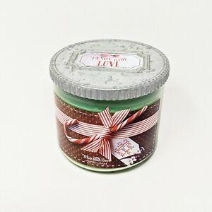 Bath & Body Works White Barn MINT MOCHA BARK 3-Wick 14.5 oz Scented Candle