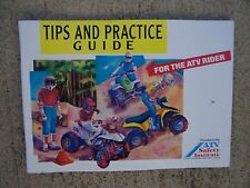 1992 ATV Tips + Practice Guide All Terrain Vehicle MORE CYCLE ITEMS IN STORE  S