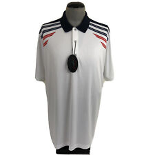 NWT Greg Norman Mens XL White Red Blue Wicking UPF Golf Polo