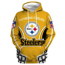Pittsburgh Steelers Hoodies 3D Print Sweatshirts Pullover Men's Hooded Sweater