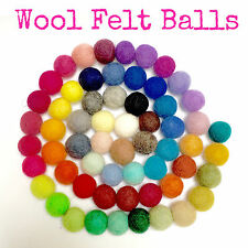 2cm Wool Felt Balls - Pack of 5 - 60 colours to choose from