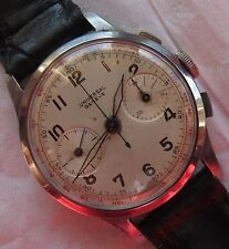 Universal Geneve Chronograph mens wristwatch steel case cal. 285 load manual