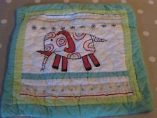 Bedeck Kids Zoo Animals Quilted Square Cushion Bed Accessory in Great Condition