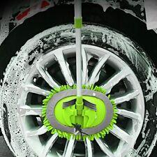 80cm Car Wash Mop Mitt w/ Aluminum Alloy Long Handle Microfiber 180° Rotation
