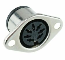 2 x 7-Pin DIN Panel Mount Female Socket Connector