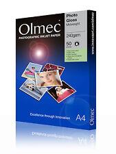 *Bulk* Olmec 240gsm Photo Glossy Inkjet Paper A4/250 Sheets OLM63A4