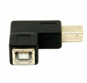 USB 2.0 B Female To USB B Male Right Angle Printer Extension Converter Adapter