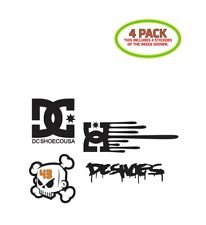 DC Shoes Sticker Vinyl Decal 4 Pack