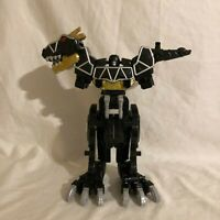 Power Rangers Dino Charge Black T-Rex Megazord Mega Zord Deluxe With Charger