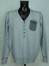 MENS G STAR RAW JUMPER COTTON V NECK SIZE L - XL ( LABEL XXL ASIA) GC