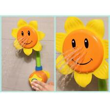 Baby Summer Toy Water Game Shower Bath Funny Sunflower Gadget Fun Kids Playing