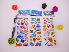3 sheets puzzle Bubble stickers lot kids baby Birthday Kindergarten reward gift