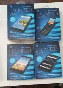 ATT Unlimited  Prepaid Smart Phone- BRAND NEW ! LOCKED-YOU CHOOSE-