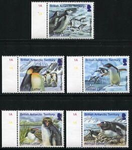 Brit. Antarktis BAT Antarctic 2014 Pinguine Penguins Vögel Birds 654-658 MNH