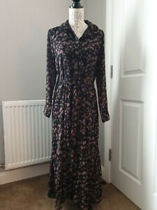 Mint Velvet Animal Print Maxi Long Dress SIze 14 EU 40 Stunning Dress