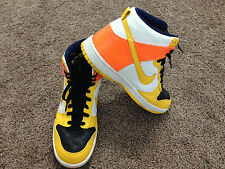 Nike Zoom 317891-071 Dunk High Orange Yellow Mens Size 10.5 Shoes ~ USED