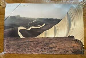 CHRISTO & JEAN CLAUDE Large Signed Poster Running Fence Sonoma 1976