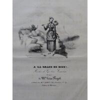 PUGET Loïsa A la Grace de Dieu Chant Piano ca1830 partition sheet music score