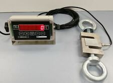 10,000 lbs x 1 lb CRANE SCALE - LOAD CELL CALIBRATED - 30' CABLE - MADE IN USA