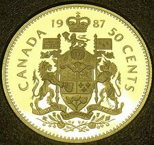 Cameo Proof Canada 1987 50 Cents~179,004 Minted~Free Shipping