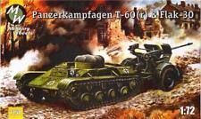 Panzerkampfwagen T-60 (R) y Flack - 30 ruedas militar alemán Segunda Guerra Mundial 1/72