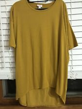 Womens Lularoe Irma Shirt Size Medium Mustard Color