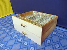 2x Schubladen Schublade Holzkiste Schubkasten Vintage 1 Schublade mit Einteilung