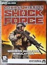 COMBAT MISSION SHOCKFORCE PC CD-ROM MODERN WARFARE GAME brand new & sealed UK