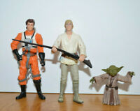 "STAR WARS LEPIRA LUKE SKYWALKER YODA Action Figure Lot 1998 2004 3.75"" Hasbro"