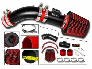 Short Ram Air Intake Kit MATT BLACK +RED Filter for 04-07 Honda Accord 2.4L L4