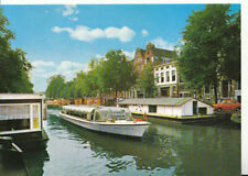 Netherlands Postcard - Amsterdam - Holland - Prinsengracht with Houseboats11307A