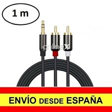 Cable Audio Jack 3.5 mm a Doble 2 RCA Auriculares Móvil  Oro 1 Metro a3011