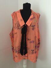 Me Women coral plus size colored floral women shirt top blouse EUR 56 asymmetric