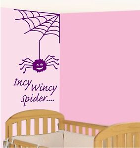 Incy Wincy Spider wall quote Vinyl/Sticker Nursery/Bedroom