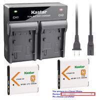 Kastar Battery Rapid Charger for Original Sony Genuine NP-BN1 & Sony OEM BC-CSN