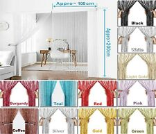 String Curtain Panels Room & Door Window Divider Curtain Net Curtains New design