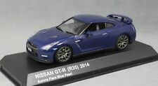 Kyosho Nissan GT-R R35 in Aurora Flare Blue Pearl 2014 03744ABL 1/43 NEW