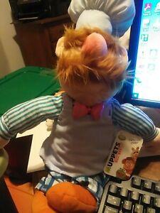 Muppets Swedish Chef Plush Doll Disney Store Original Authentic nos wtag