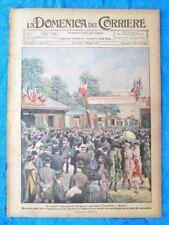 La Domenica del Corriere 1 maggio 1921 Fiera Milano -Pompieri -Augusta Vittoria