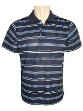 Men's Striped T-shirts Loose Fit Pique Polo Polycotton 1905 Tops Casual M to 5xl D-navy 3xl