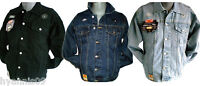 MENS KING SIZE BIG STONEWASH BLACK LIGHTWASH CASUAL DENIM/JEAN, JACKETS 5XL 6XL
