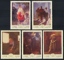 Russia 1979 Art/Paintings/Artists/Workers/Soldier/Train Driver 5v set (n33537)