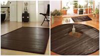 Bamboo Rug Carpet Mat WENGE in 13 sizes. Living room Kitchen rug