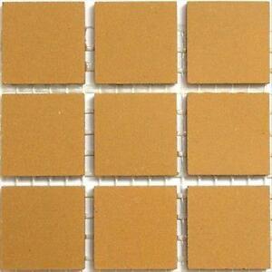 20mm Ceramic Unglazed Porcelain Mosaic Tiles. Yellow. 49 Tile Pack