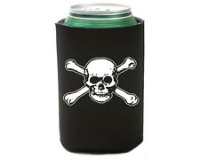 Skull & Bones Pirate Beer Pop Soda Can Koozie Koolie Cooler Insulator Cozy