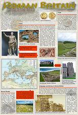 A2 laminated ROMAN BRITAIN old UK England educational history poster wall chart