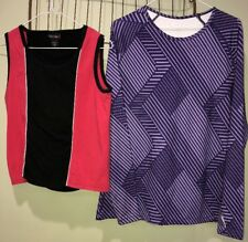 Layer8 Quick-dry Coastlines Athletic Tops Lot Women's Large 12-14